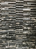 Parte de mármore preta com teste padrão e textura naturais na parede para o trabalho de arte do fundo ou do projeto Imagem de Stock