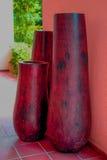 Parte de madeira do interior da decoração do vaso Imagem de Stock Royalty Free