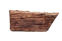 Parte de madeira velha isolada no branco Fotografia de Stock