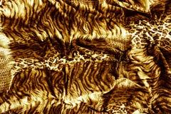 Parte de matéria têxtil do tigre de roupa Foto de Stock