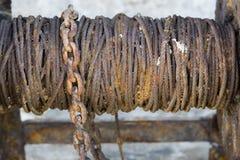 Parte de metal oxidada Fotografia de Stock Royalty Free