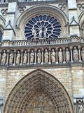 Parte de Notre Dame Cathedral Paris fotografía de archivo
