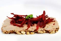 Pasta de fígado e Beefroot Foto de Stock