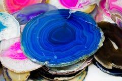 Parte de pedras preciosas minerais naturais Imagens de Stock Royalty Free