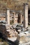 Parte de ruínas antigas em Ephesus Fotografia de Stock Royalty Free