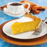 Parte de tarte de abóbora Imagem de Stock