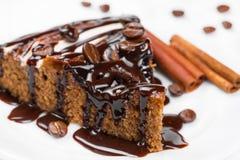 Parte de torta do chocolate Fotos de Stock Royalty Free