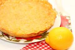Parte de torta do limão Foto de Stock
