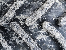 Parte de um pneumático do trator com lama Imagens de Stock