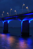 Parte de um viaduct sob l azul Imagens de Stock Royalty Free