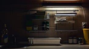 Parte de uma cozinha fotografia de stock