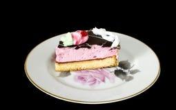 Parte de uma torta em uma placa Fotografia de Stock Royalty Free