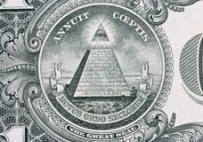 Parte de un dólar con el gran sello Foto de archivo libre de regalías