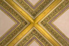Parte de una cámara acorazada adornada con las costillas doradas Foto de archivo libre de regalías