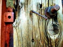Parte de una puerta de madera vieja imagen de archivo