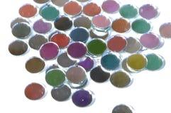 Parte de vidro colorida de confetes Imagens de Stock