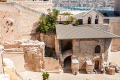 Parte de viejo objeto arquitectónico en Marsella Fotografía de archivo libre de regalías