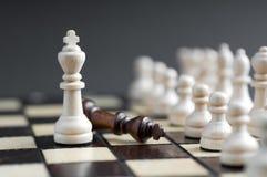 Parte de xadrez de madeira Fotos de Stock Royalty Free
