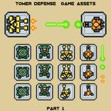 Parte 1 dei beni del gioco della difesa della torre illustrazione vettoriale