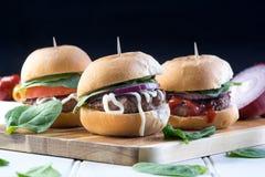 Parte dei cursori degli hamburger del manzo del partito Fotografia Stock
