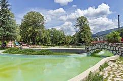 Parte dei giardini pubblici - fontane e stagno Fotografia Stock