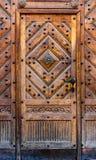 Parte dei tipi differenti di una porta di legno di legno Fotografia Stock