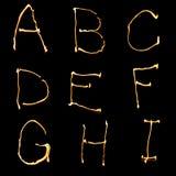 Parte del alfabeto (1 de 3) Foto de archivo libre de regalías