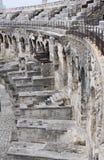 Parte del Amphitheatre en la ciudad de Nimes, Francia Imagenes de archivo