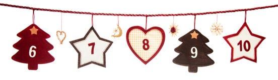 Parte del calendario del advenimiento Imagen de archivo libre de regalías