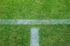 Parte del campo de fútbol Fotos de archivo