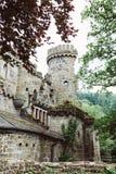 Parte del castello di pietra di Lowenburg, a Cassel, la Germania fotografia stock libera da diritti