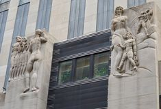 Parte del centro de Rockefeller, Manhattan, NYC Fotos de archivo