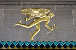 Parte del centro de Rockefeller, Manhattan, NYC Imagen de archivo libre de regalías