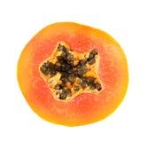 Parte del cerchio della papaia Fotografia Stock