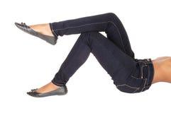 Parte del corpo delle gambe e dell'estremità della donna Fotografie Stock