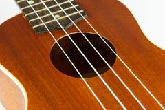 Parte del cuerpo de la guitarra del ukelele Imagenes de archivo