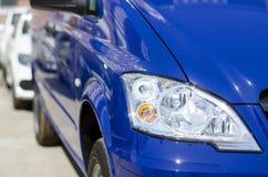Parte del faro blu dell'automobile grande Immagini Stock