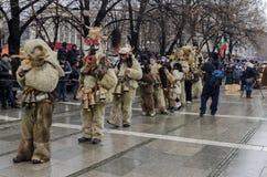 Parte del festival internacional de la mascarada popular Fotos de archivo libres de regalías