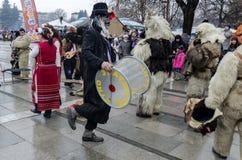 Parte del festival internacional de la mascarada popular Imagen de archivo