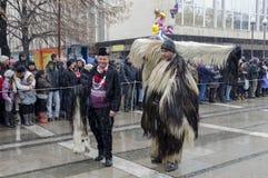 Parte del festival internacional de la mascarada popular Imágenes de archivo libres de regalías