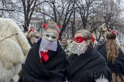 Parte del festival internacional de la mascarada popular Fotos de archivo