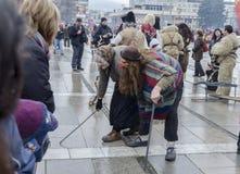 Parte del festival internazionale del travestimento piega Immagine Stock Libera da Diritti
