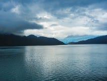 Parte del glaciar en el chil del parque nacional de los higgins de bernardo o fotos de archivo