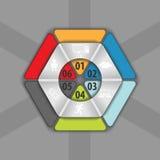 Parte del hexágono para sus datos, infographics del vector ilustración del vector