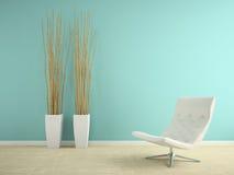 Parte del interior con la representación de la butaca y de los floreros 3D ilustración del vector