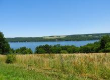 Parte del lago Owasco del FingerLakes orientale di NYS Fotografia Stock Libera da Diritti