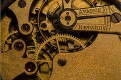 Parte del mecanismo exacto del reloj Fotos de archivo libres de regalías