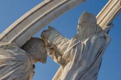 Parte del monumento di incoronazione di Szent Istvan in Eztergom, Ungheria Immagine Stock