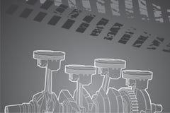 Parte del motore Fotografia Stock Libera da Diritti