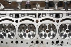 Parte del motore di automobile, valvola quattro in testa Immagini Stock